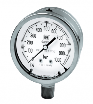Safety solid-front gauges