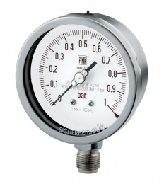 Heavy work pressure gauges MGS19 DN100-150