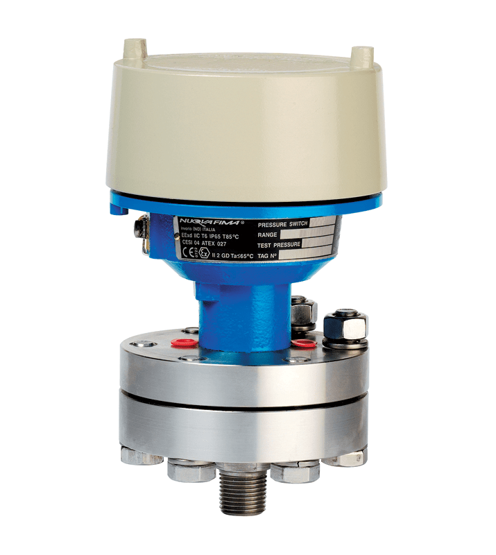 Diaphragm pressure switches 3.40 ATEX flameproof enclosure