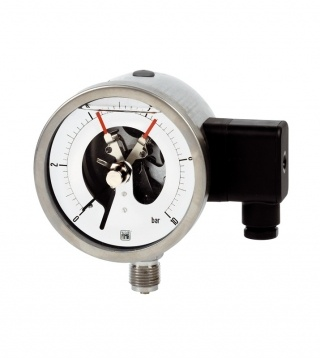 Pressure gauge MCE18 with electric contacts