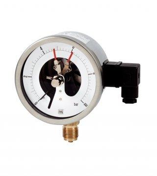 Manometri MCE10 DN100 con contatti elettrici