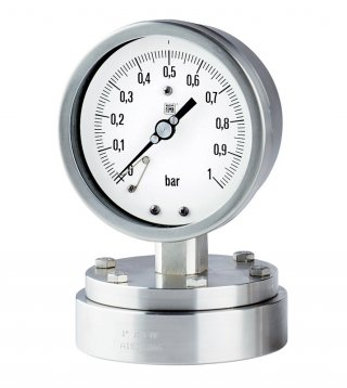 Flanged diaphragm pressure gauge MN12/18/F